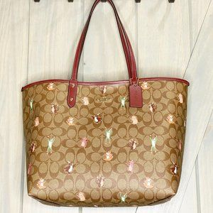 Coach Party Animal Print Reversible City Tote
